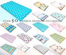 Baby fitted sheet PRAM MOSES BASKET CRIB CARDLE COT COT BED 100%Cotton patterned