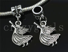 6/30/100pcs Tibetan Silver Dancing girl Bulk Lots Dangle European Charm Bracelet