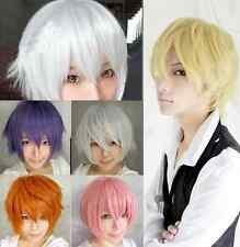 Men Anime Fashion Short Wig Cosplay Party Straight Hair Cosplay Full Wigs w101