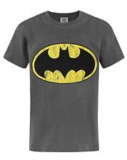 Official Batman Distressed Logo Boy's T-Shirt