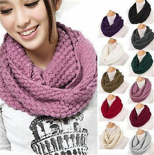 1Pc Knitted Hood Neck Circle Cowl Wool Scarf Shawl Wrap Loop Winter Warmer New