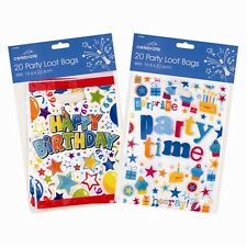Party Loot Bags - 20 Pack Perfect Finishing Touch to Birthday Parties 2 Designs