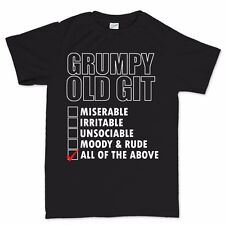 Grumpy Old Git Checklist Christmas Xmas Gift Stocking Filler Fathers Day T shirt