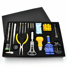 20PCS Watchmaker Watch Repair Tool Kit Carrying Case Opener Link Remover Kit Set