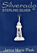 LITTLE LIGHTHOUSE  Solid Sterling Silver Pendant - Charm w/ Options # 2030