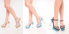 Rhinestone Stiletto Satin Strappy Women Sandal Pumps Sexy Platform High Heels