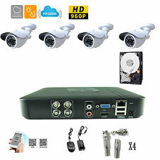 4CH CCTV DVR kit 540TVL SONY CCD IR outdoor with HDD Security CCTV Camera System