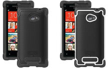For HTC 8X Ballistic Shell Gel Shockproof Fitted Protective Case Silicone Cover