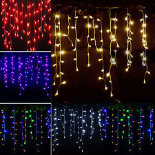 String Fairy Lights Icicle Hanging Snowing Curtain Christmas Indoor/Outdoor Lamp
