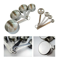 C6 US 8Pc Measuring Spoons Set Tablespoon Teaspoon Stainless Steel Kitchen Tools