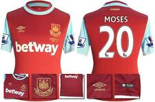 *15 / 16 - UMBRO ; WEST HAM UTD HOME SHIRT SS + PATCHES / MOSES 20 = SIZE*