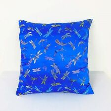 Royal Blue Dragonfly Chinese Brocade Cushion Cover Made to Order S-L  BRCC-205