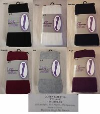 Women Winter Sweater Knit Footed Tights Socks One Queen Size fits Most  #451