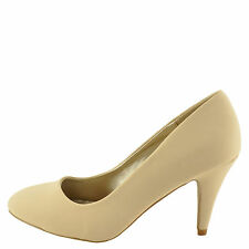 Qupid Trenda 01 Nude Nubuck Women's Classic Round Toe Low Pump