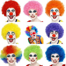 10 Colors Adult Colorful Circus Clown Wig Hair Costume Accessory