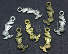 15/60/300pcs Tibetan Silver Beautiful Mermaid Jewelry Charms Pendant DIY 20x9mm