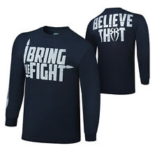 """WWE ROMAN REIGNS """"I BRING THE FIGHT"""" LONG SLEEVE T-SHIRT OFFICIAL NEW ALL SIZES"""