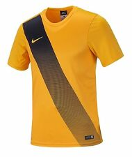 NIKE Youth Dri-Fit Soccer Sessi Jersey S/S Yellow Shirts Junior Team 645920-739