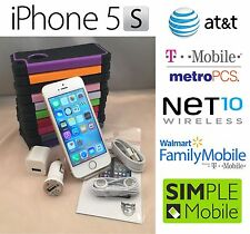 Apple iPhone 5S Unlocked(Straight Talk)16GB 32GB 64GB Black White Gold+FREE CASE