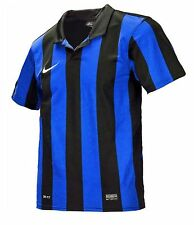 NIKE Youth Dri-Fit Soccer Inter Stripe 3 Jersey S/S Blue Shirt Junior 448251-464