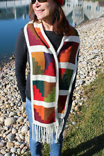 100% Alpaca Wool Scarf Geometric Design from Peru