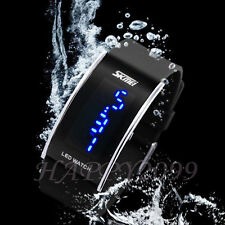 2015 Fashion Mens Womens Silicone LED Sport Bracelet Touch Digital Wrist Watches