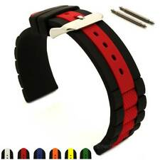 Silicone Rubber Waterproof Watch Strap Band FORTE Spring Bars 20mm 22mm 24mm MM