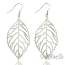 NEW Fashion Jewelry Gold Silver Hollow Leaf Women Dangle Drop Hook Earrings Gift