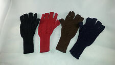 100% Alpaca Wool Half-Finger Gloves from Peru