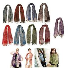 Womens Elegant Cashmere Pashmina Flower Soft Shawl Long Neck Scarves Wraps Stole