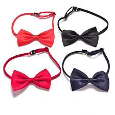Boys Kids Children Toddler Infant Solid Bowtie Pre Tied Wedding Bow Tie Necktie