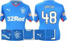 *15 / 16 - PUMA ; RANGERS HOME SHIRT SS + PATCHES / WALSH 48 = SIZE*
