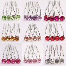 Nice 10pcs Wedding Party Shiny Crystal Rhinestone Diamante Hair Pins Bridal Gift