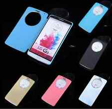 Slim Quick View Smart Circle Window Flip Case Cover Skin Magnetic For LG G3 G4