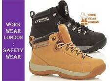 MENS GROUNDWORK SAFETY STEEL TOE CAP WORK BOOTS TRAINERS HIKING SHOES UK 6-13