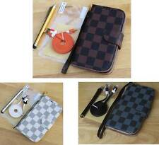 """Luxury PU Leather Wallet Stand Flip Pouch Grid Case Cover For iPhone 6 6s 4.7"""""""