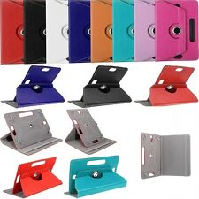 "Universal 360° Rotatable Leather Stand Case Cover For 7"" Tab Android Tablet PC"