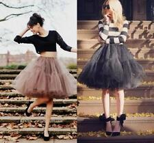 Tulle Coffee Black Short Party Skirts Womens Ladies Prom Dress Skirt