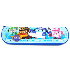 Robocar Poli PVC Spoon and Chopsticks Zipper Case Blue Multi Purpose Portable