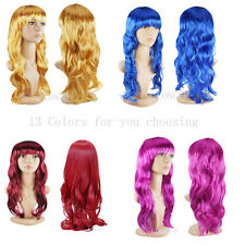 WOMEN'S SEXY LONG CURLY FANCY DRESS WIGS COSPLAY COSTUME LADIES FULL WIG PARTY a