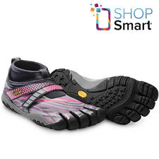 VIBRAM LONTRA W6453 FIVEFINGERS WOMENS SHOES GRAY PINK BLACK RUNNING BAREFOOT