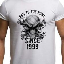 GIFT BOXED Bad To The Bone 1999 18th Birthday Present Gift Funny Mens T Shirt