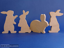 Freestanding Easter Rabbits Bunnies 18mm thick MDF Craft Blank 15cm Height