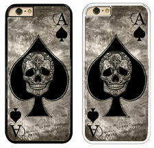 Ace Of Spades Tattoo Skull Phone Case Card Black & White Hard Cover for iPhone