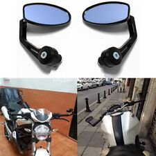 """MOTORCYCLE 7/8"""" HANDLE BAR END MIRRORS FOR BOBBER CHOPPER CLUBMAN CAFE RACER"""