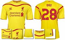 *14 / 15 - LIVERPOOL AWAY EURO & DOMESTIC SHIRT SS / INGS 28 = SIZE*
