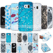 -BF22 Pattern Skid Soft TPU Case Cover For Samsung Galaxy S6 Edge S3 S4 S5 Mini