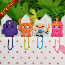 4PCS Adventure Time Cartoon Bookmarks,Paper Clips School Office Supplies Gifts
