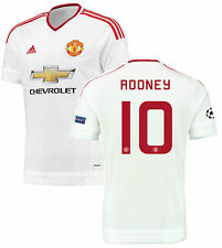 ADIDAS WAYNE ROONEY MANCHESTER UNITED CHAMPIONS LEAGUE AWAY JERSEY 2015/16
