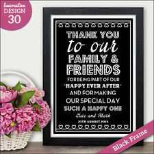 PERSONALISED Wedding Thank You Signs Family Friends Thankyou Thanks Signs